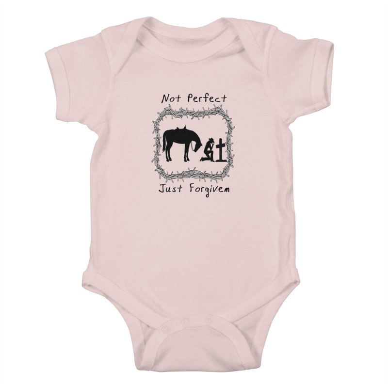 Cowgirl not perfect w/ Horse Kids Baby Bodysuit by theclearword's Artist Shop