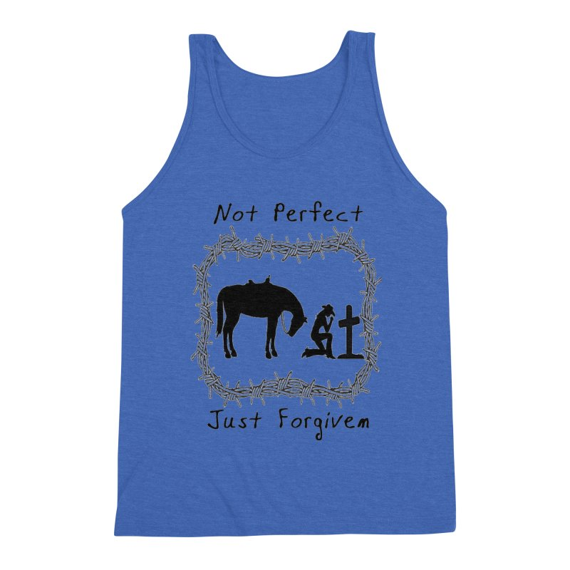 Cowgirl not perfect w/ Horse Men's Triblend Tank by theclearword's Artist Shop