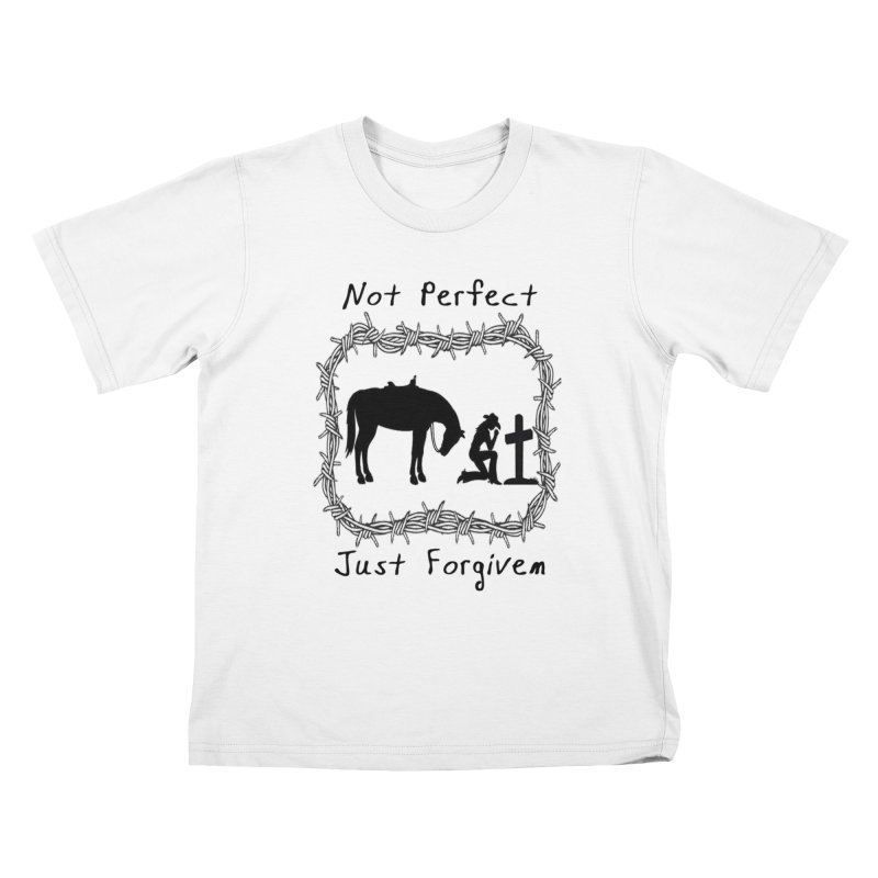 Cowgirl not perfect w/ Horse Kids T-Shirt by theclearword's Artist Shop