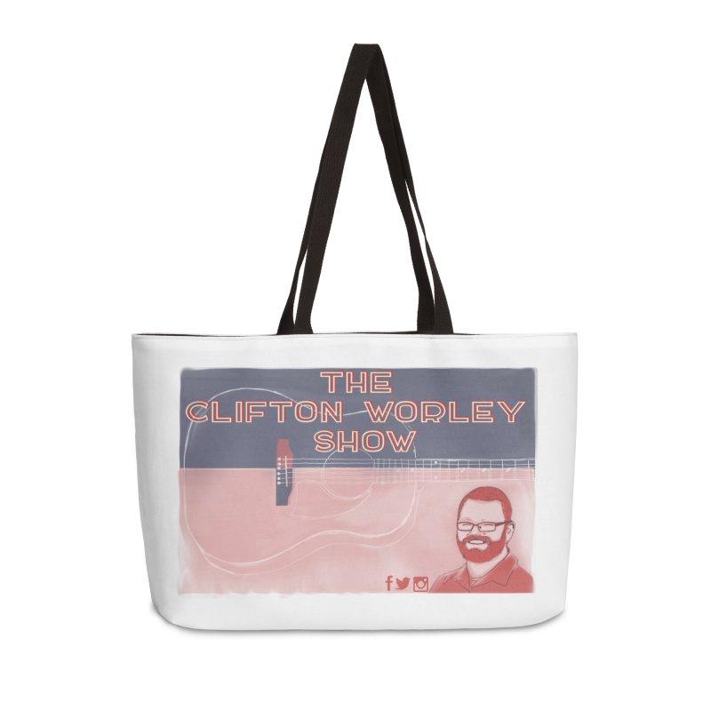 sticker logo Accessories Bag by thecliftonworleyshow's Artist Shop