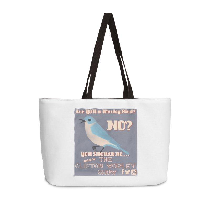 Worley Bird Accessories Bag by thecliftonworleyshow's Artist Shop