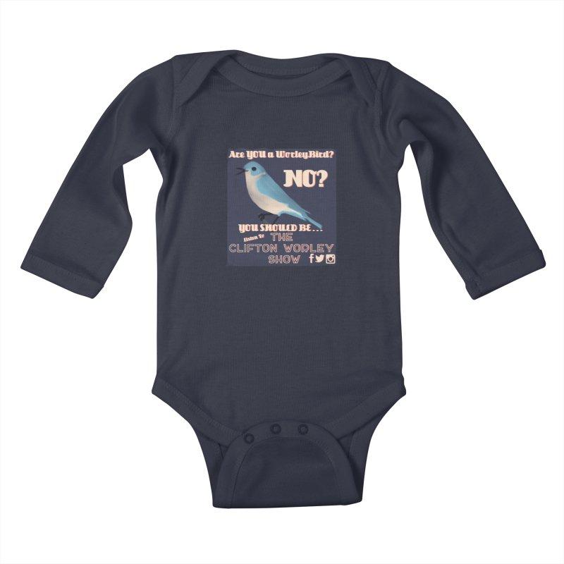 Worley Bird Kids Baby Longsleeve Bodysuit by thecliftonworleyshow's Artist Shop