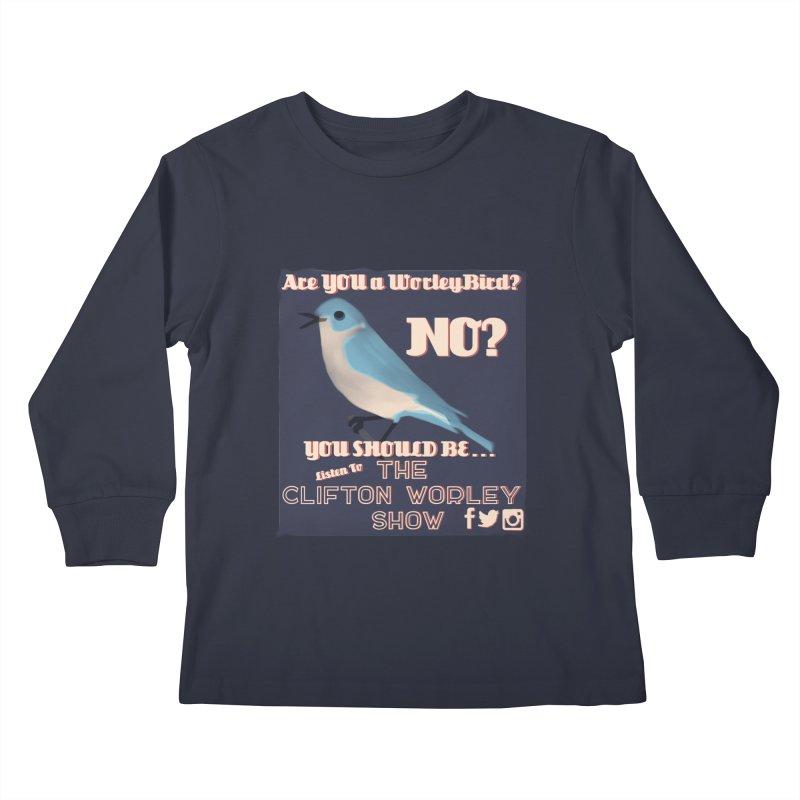 Worley Bird Kids Longsleeve T-Shirt by thecliftonworleyshow's Artist Shop