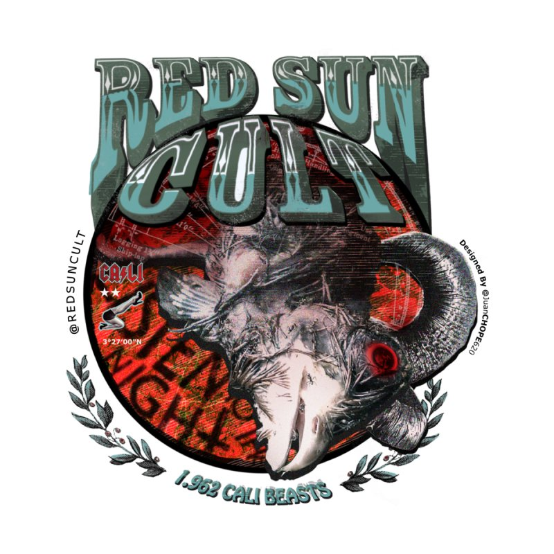 Red Sun Cult (Stoner Rock From Cali Colombia) Men's T-Shirt by THE CODE