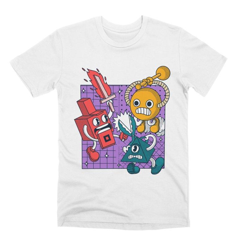 Inside a LED Men's Premium T-Shirt by The Cool Orange