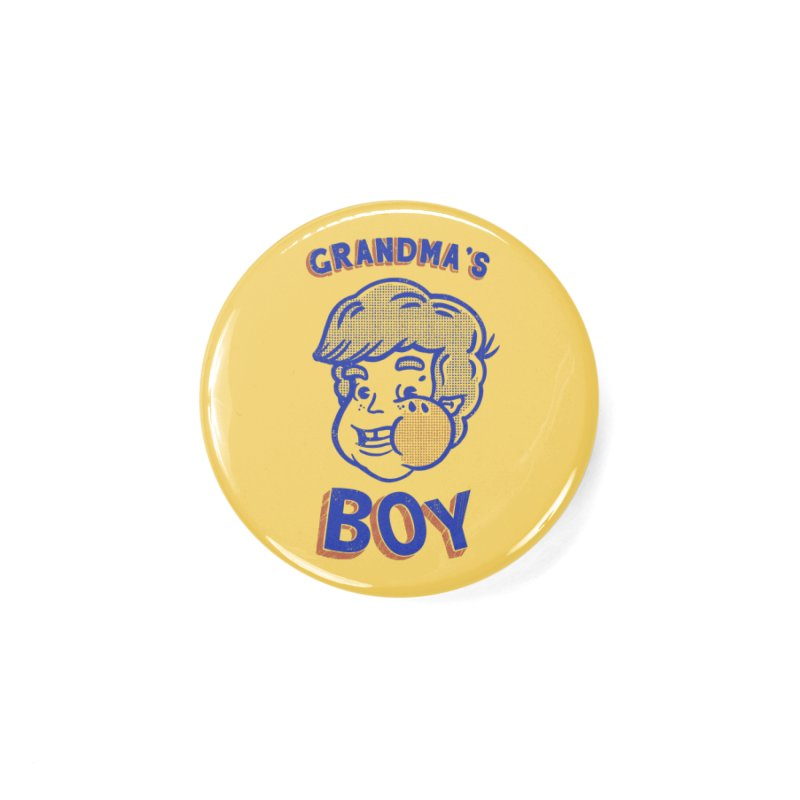 grandma's boy Accessories Button by The Cool Orange