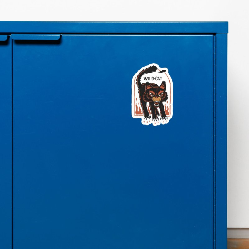 Wild cat Accessories Magnet by The Cool Orange