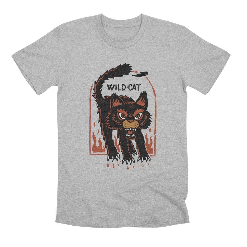 Wild cat Men's Premium T-Shirt by The Cool Orange