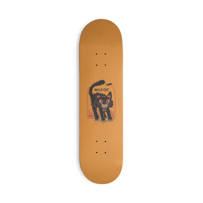 Wild cat Accessories Deck Only Skateboard by The Cool Orange