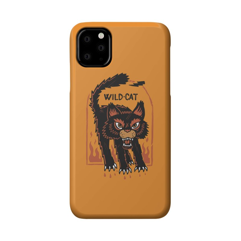 Wild cat Accessories Phone Case by The Cool Orange