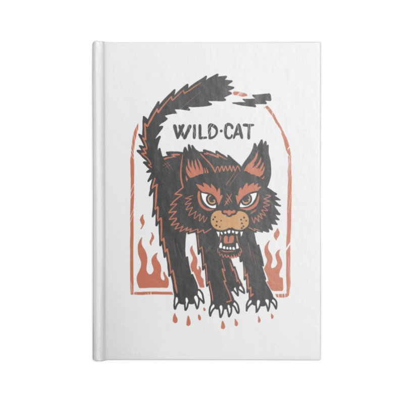Wild cat Accessories Blank Journal Notebook by The Cool Orange