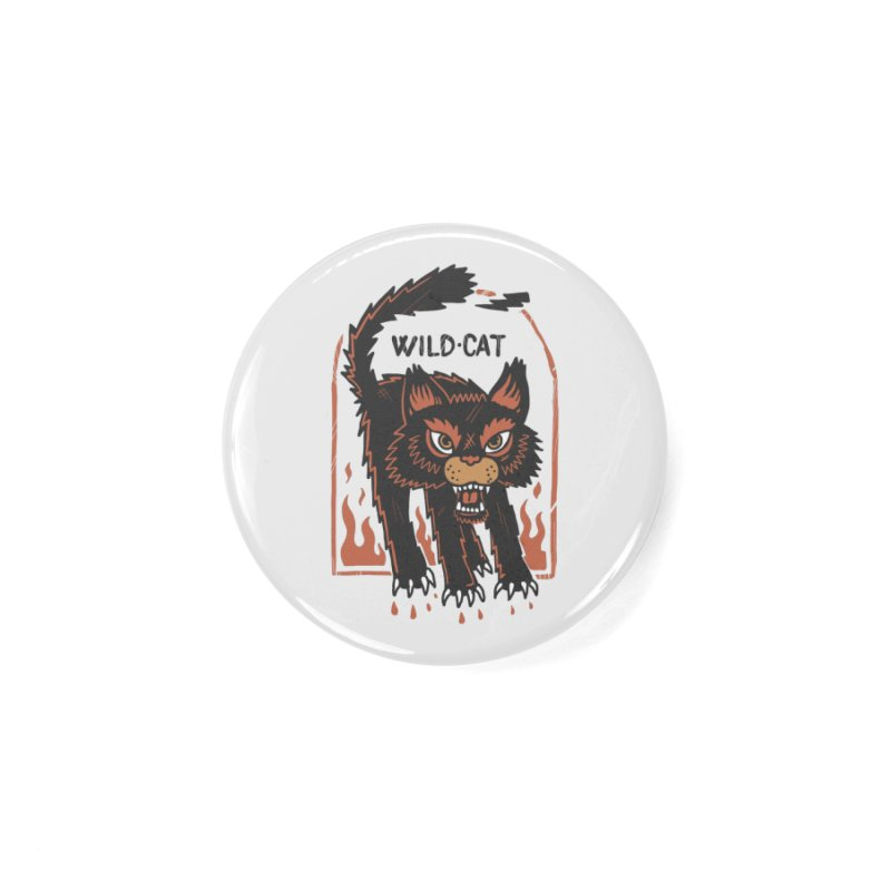 Wild cat Accessories Button by The Cool Orange