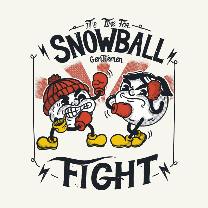 Snowball fight Men's T-Shirt by The Cool Orange