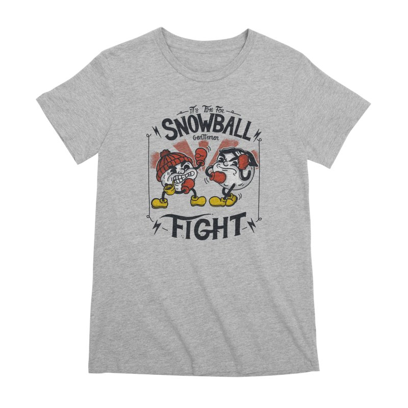 Snowball fight Women's Premium T-Shirt by The Cool Orange