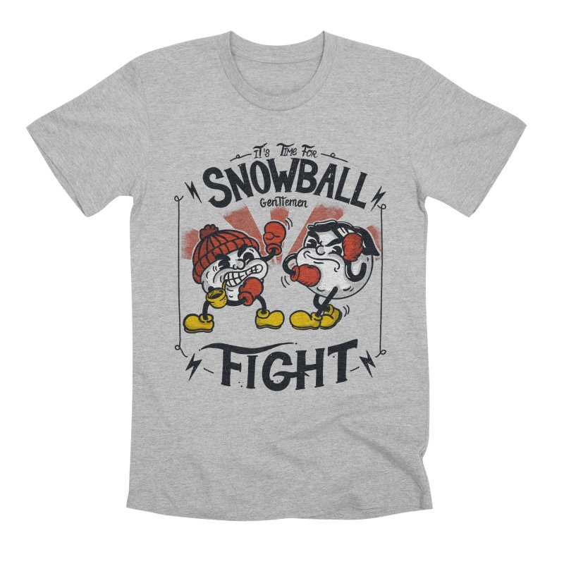 Snowball fight Men's Premium T-Shirt by The Cool Orange