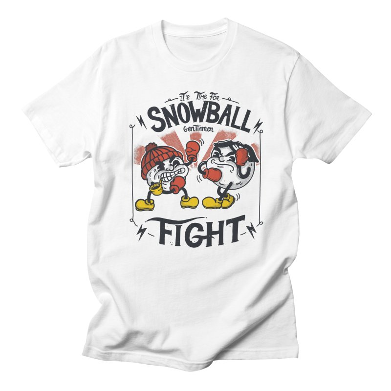 Snowball fight Men's Regular T-Shirt by The Cool Orange