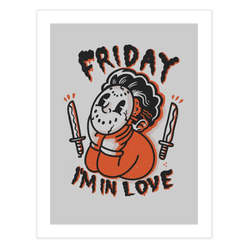 Friday love Home Fine Art Print by The Cool Orange