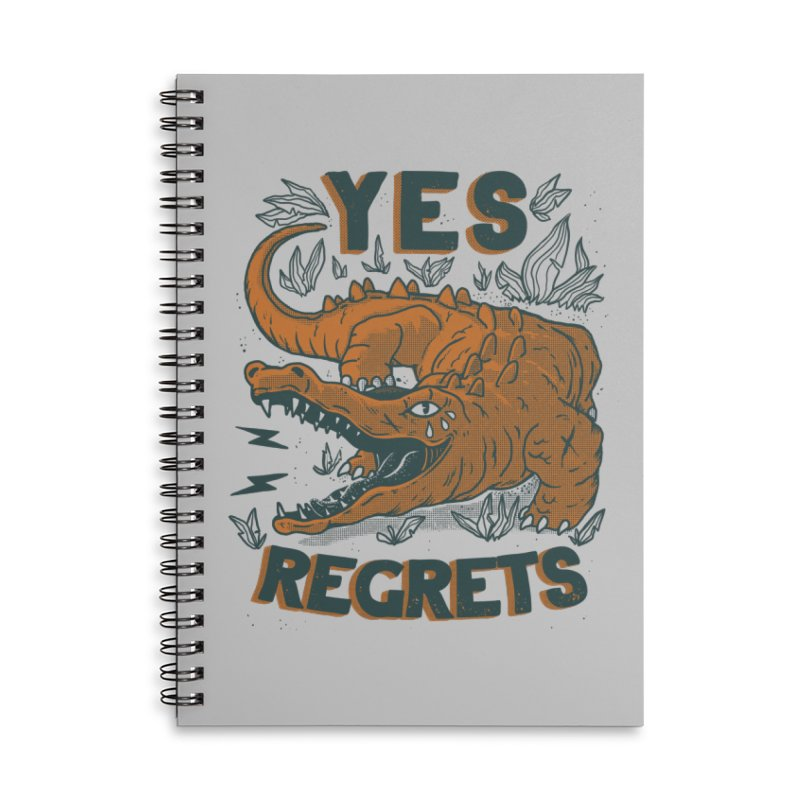 Yes regrets Accessories Notebook by The Cool Orange