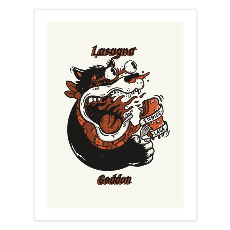 Lasagna geddon Home Fine Art Print by The Cool Orange