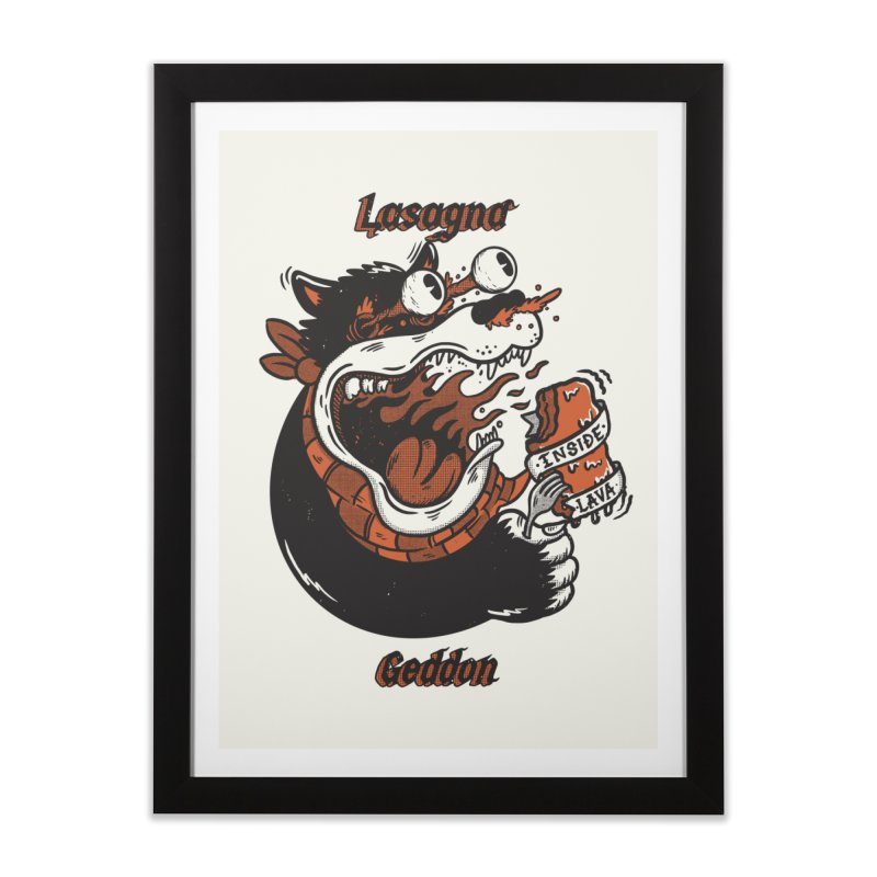 Lasagna geddon Home Framed Fine Art Print by The Cool Orange