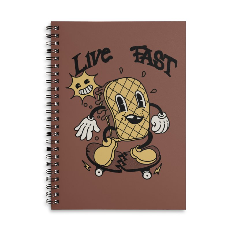 Live fast Accessories Notebook by The Cool Orange