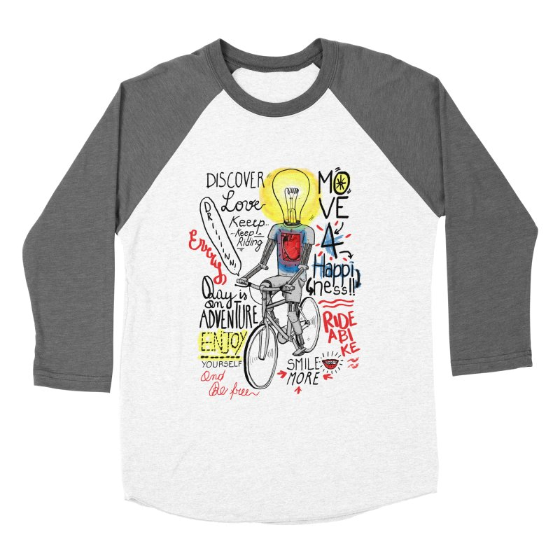 Cycling is Freedom | for bike & adventure heroes Women's Baseball Triblend Longsleeve T-Shirt by The Cool Orange