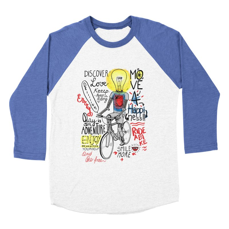Cycling is Freedom | for bike & adventure heroes Men's Baseball Triblend Longsleeve T-Shirt by The Cool Orange