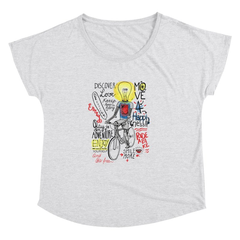 Cycling is Freedom | for bike & adventure heroes Women's Dolman Scoop Neck by The Cool Orange