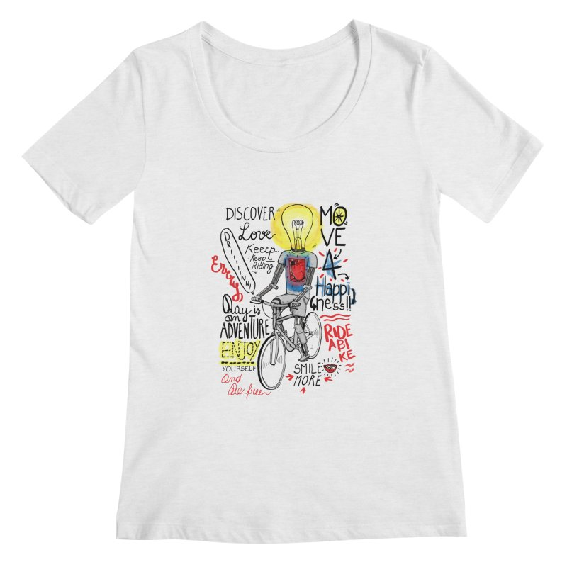 Cycling is Freedom | for bike & adventure heroes Women's Regular Scoop Neck by The Cool Orange