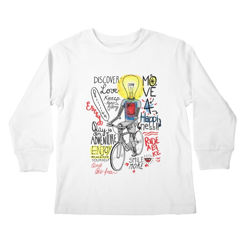 Cycling is Freedom | for bike & adventure heroes Kids Longsleeve T-Shirt by The Cool Orange