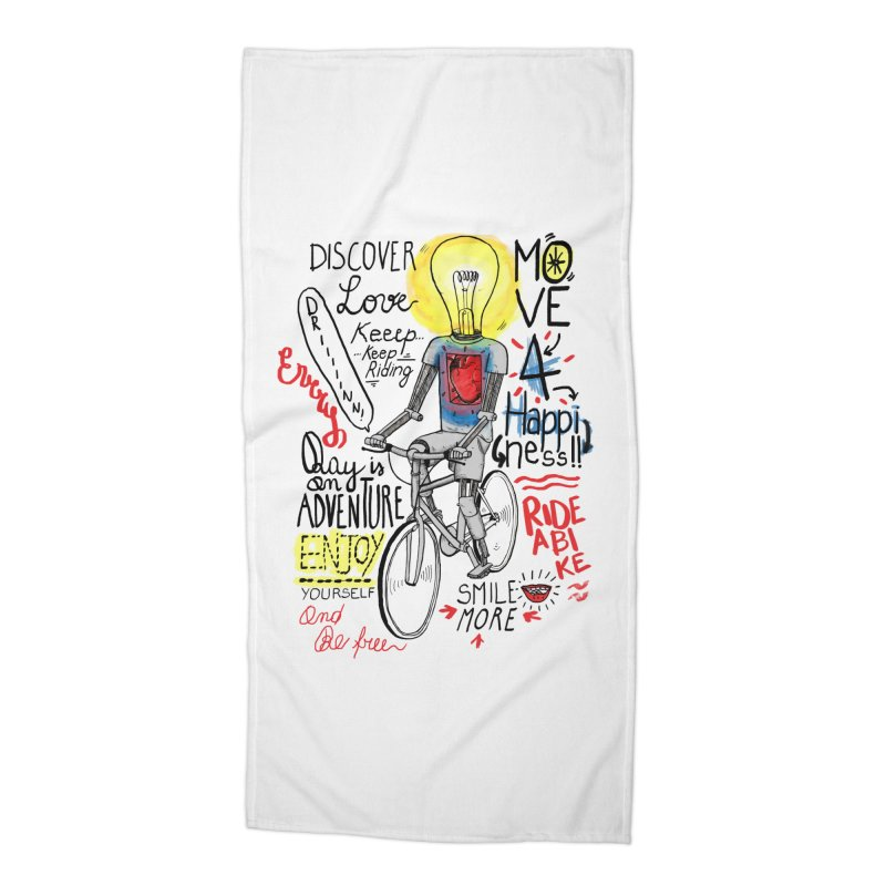 Cycling is Freedom   for bike & adventure heroes Accessories Beach Towel by The Cool Orange