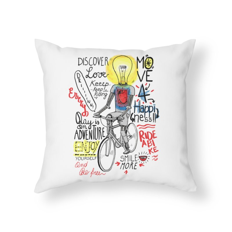 Cycling is Freedom | for bike & adventure heroes Home Throw Pillow by The Cool Orange