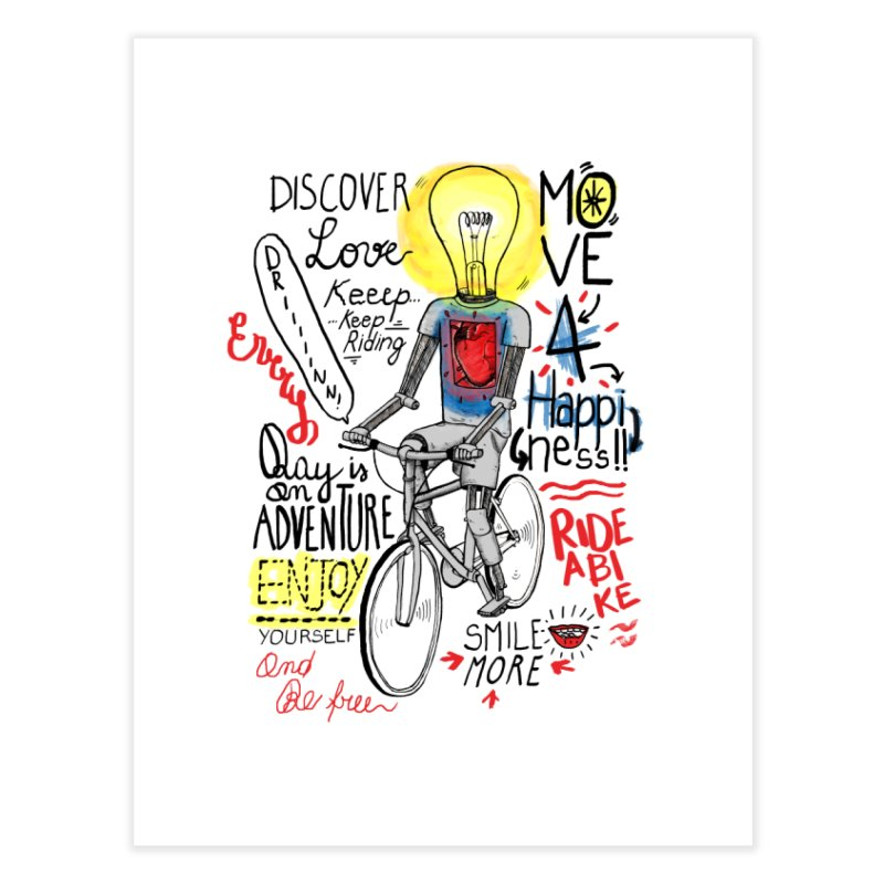 Cycling is Freedom | for bike & adventure heroes Home Fine Art Print by The Cool Orange