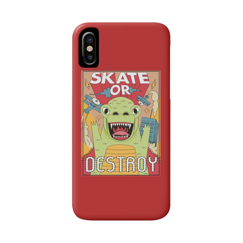 Skate or destroy everything Godzilla! Accessories Phone Case by The Cool Orange