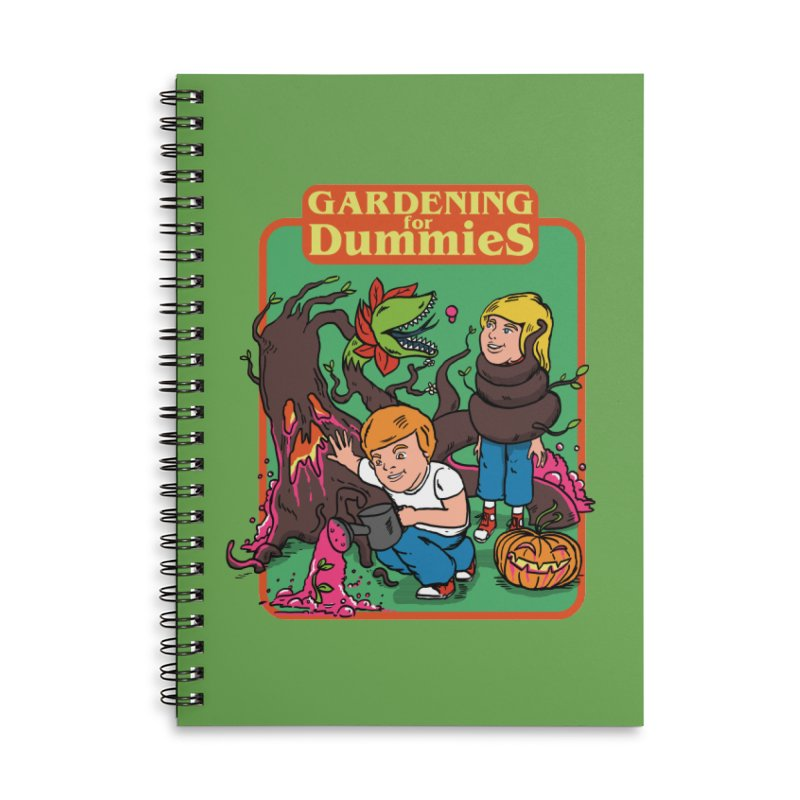 Gardening for dummies Accessories Lined Spiral Notebook by The Cool Orange