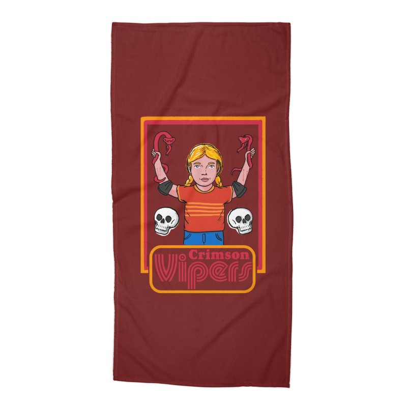 Crimson vipers - the girl with no fear Accessories Beach Towel by The Cool Orange