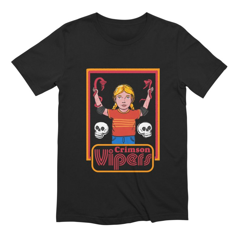 Crimson vipers - the girl with no fear Men's Extra Soft T-Shirt by The Cool Orange