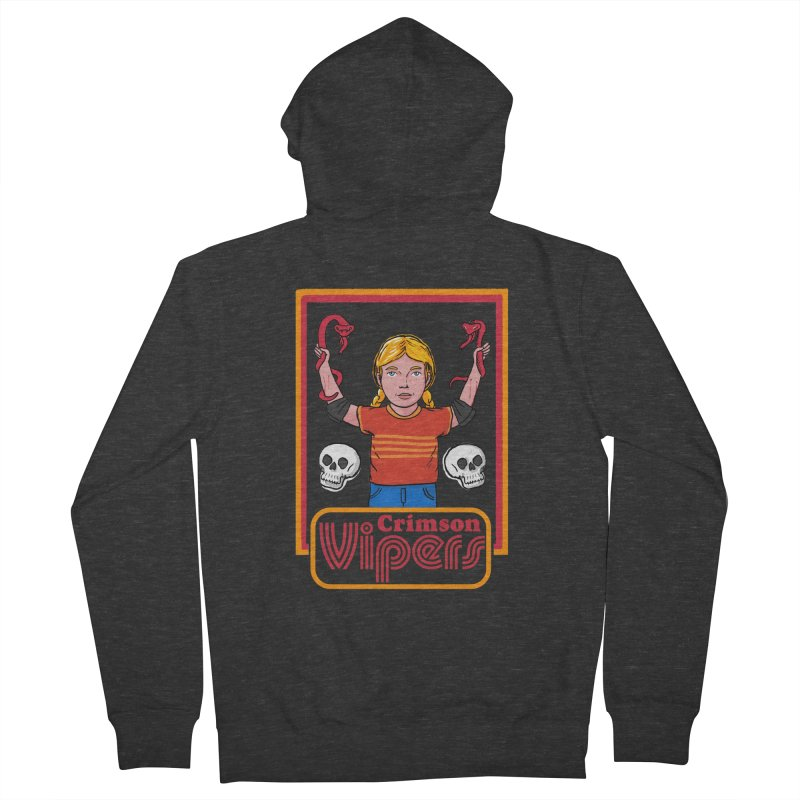 Crimson vipers - the girl with no fear Men's French Terry Zip-Up Hoody by The Cool Orange