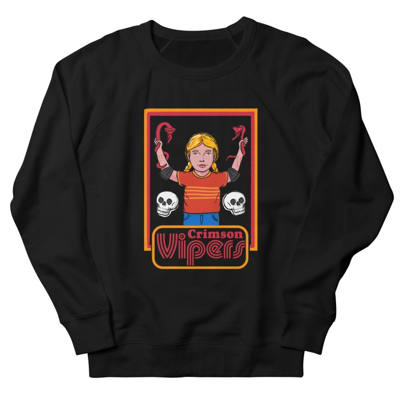 Crimson vipers - the girl with no fear Women's French Terry Sweatshirt by The Cool Orange