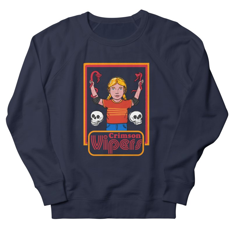 Crimson vipers - the girl with no fear Men's French Terry Sweatshirt by The Cool Orange