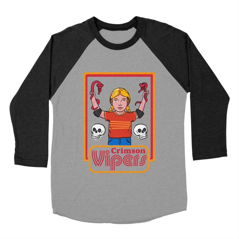 Crimson vipers - the girl with no fear Women's Baseball Triblend Longsleeve T-Shirt by The Cool Orange