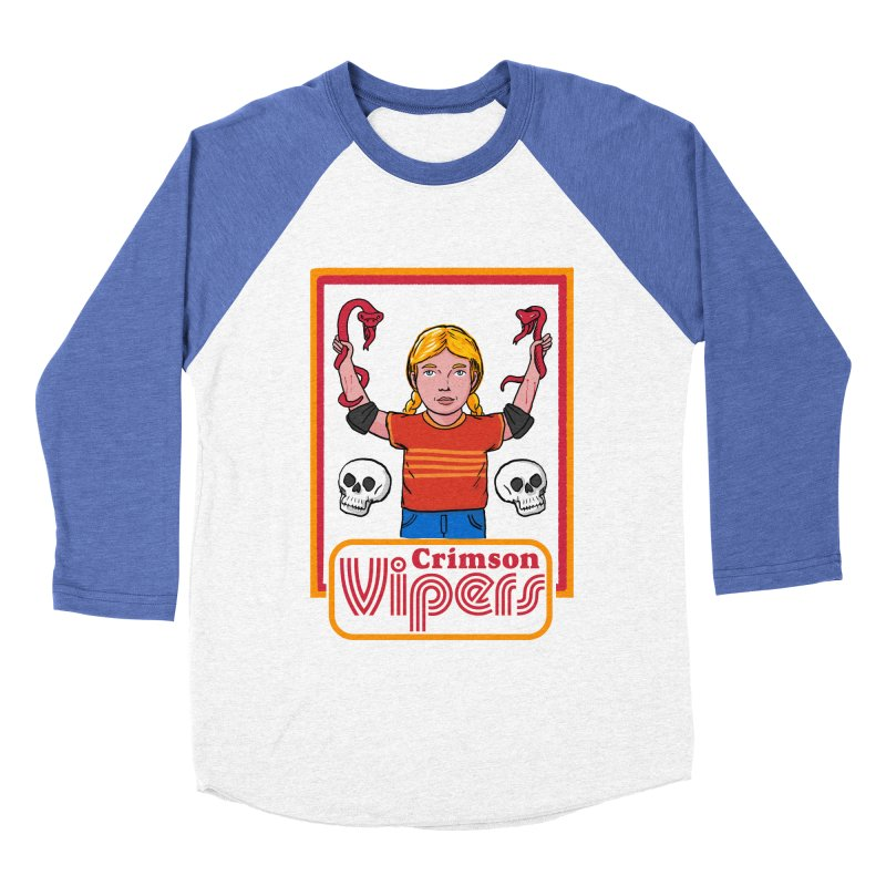 Crimson vipers - the girl with no fear Men's Baseball Triblend Longsleeve T-Shirt by The Cool Orange