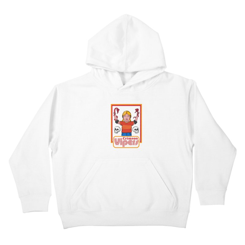 Crimson vipers - the girl with no fear Kids Pullover Hoody by The Cool Orange