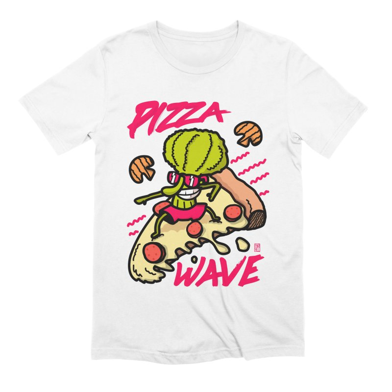 Pizza Wave 80s style and Funny t-shirt for pizza lovers Men's Extra Soft T-Shirt by The Cool Orange