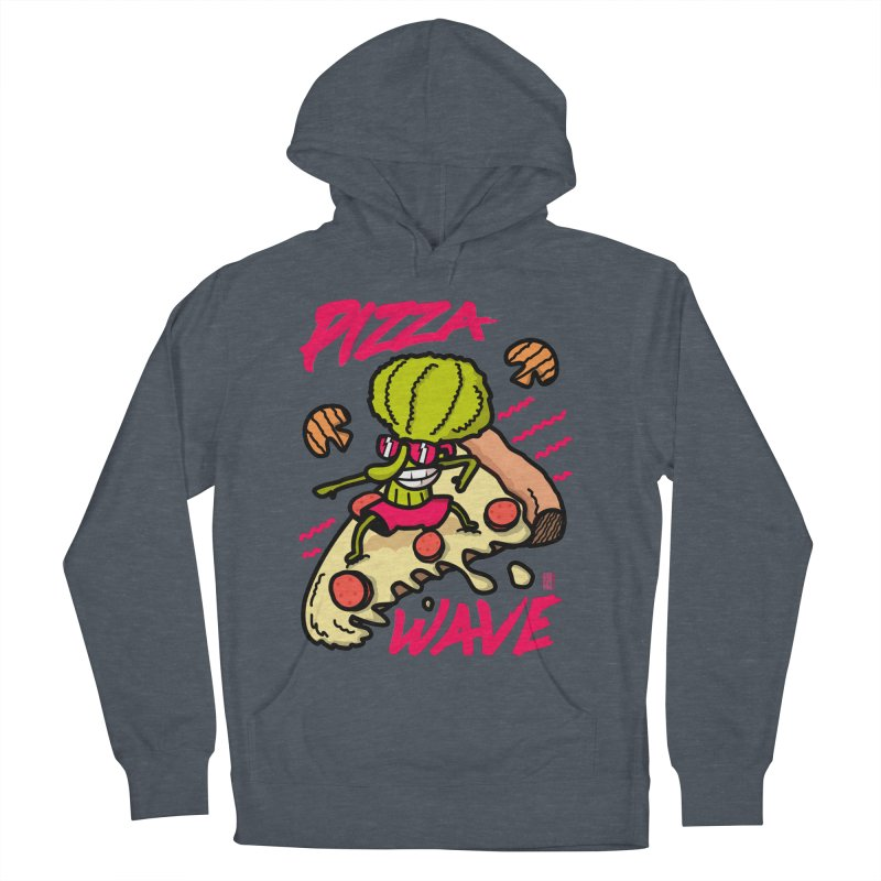 Pizza Wave 80s style and Funny t-shirt for pizza lovers Men's French Terry Pullover Hoody by The Cool Orange