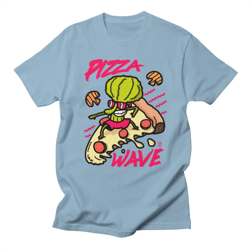 Pizza Wave 80s style and Funny t-shirt for pizza lovers Women's Regular Unisex T-Shirt by The Cool Orange