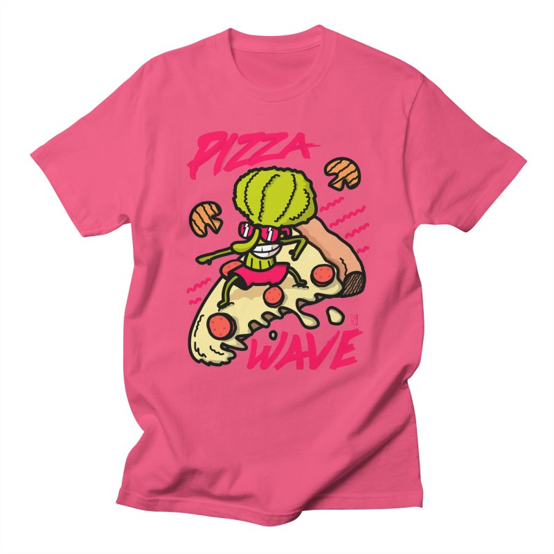 Pizza Wave 80s style and Funny t-shirt for pizza lovers Men's Regular T-Shirt by The Cool Orange