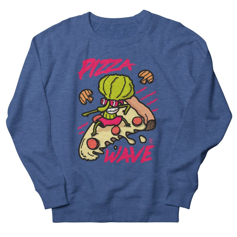 Pizza Wave 80s style and Funny t-shirt for pizza lovers Women's French Terry Sweatshirt by The Cool Orange