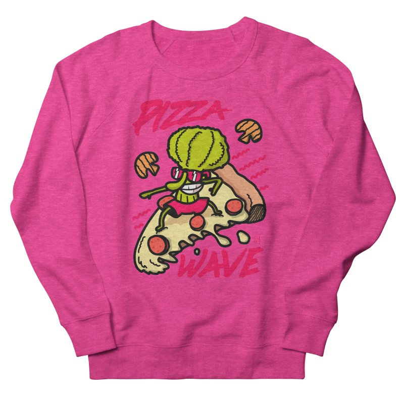 Pizza Wave 80s style and Funny t-shirt for pizza lovers Men's French Terry Sweatshirt by The Cool Orange