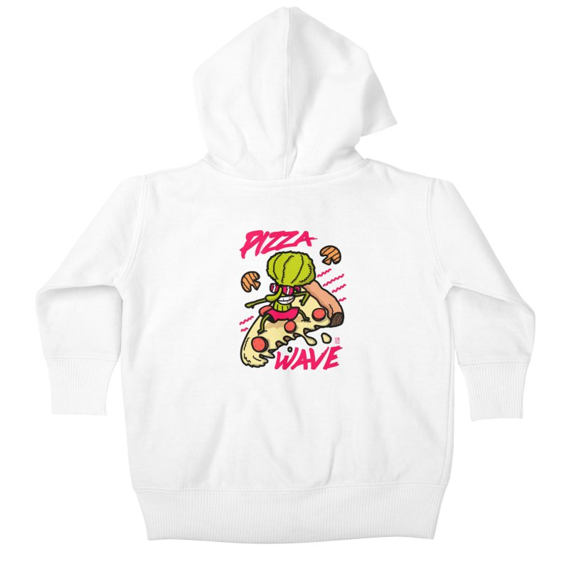 Pizza Wave 80s style and Funny t-shirt for pizza lovers Kids Baby Zip-Up Hoody by The Cool Orange
